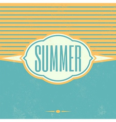 Retro Summer Vintage Background vector image