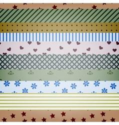 seamless textile stripes vector image vector image