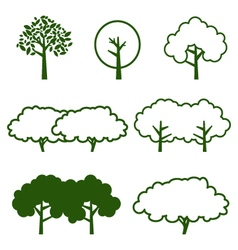 set of tree icon vector image