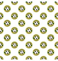 Soccer pattern seamless vector