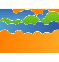 Stylized sky with clouds vector image vector image