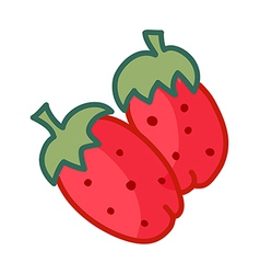 A strawberry vector image