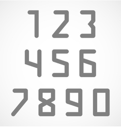 Abstract digital geometric numbers set vector image