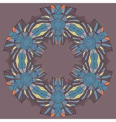 round mosaic vector image