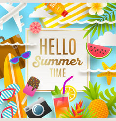 summer holidays and vacation design vector image vector image