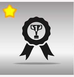 winner black icon button logo symbol vector image
