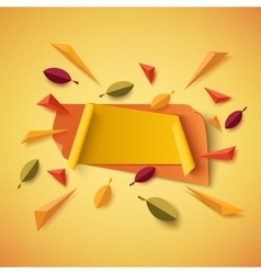 Blank yellow and orange autumn banner vector image