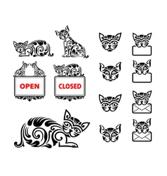 Cat Pattern Ornament Decoration vector image vector image