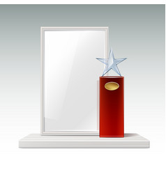 glass star trophy vector image vector image