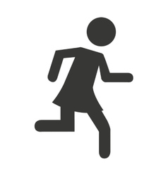 human figure person running vector image vector image