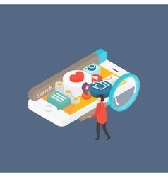 Modern concept Social media on smartphone vector image