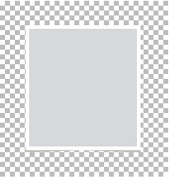photo frame on isolated background photo frame vector image vector image