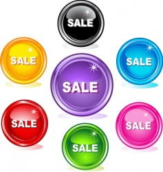 sale buttons vector image vector image