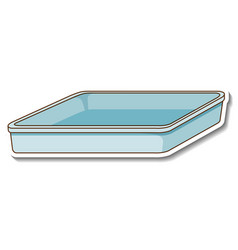 A sticker template with blank tray isolated vector
