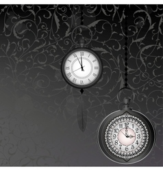 Abstract black and white wallpaper with pocket vector image