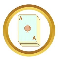 Ace of spades playing cards icon vector