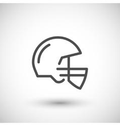 American football helmet line icon vector