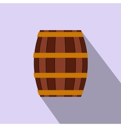 Barrel with honey flat icon vector image