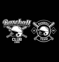 baseball club team badge logo emblem template vector image