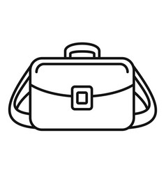 camera bag icon outline style vector image