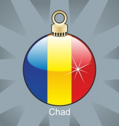chad flag in bulb vector image