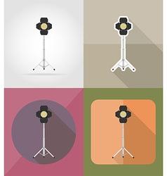 cinema flat icons 01 vector image