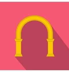 Classic arch icon flat style vector