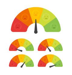 Customer satisfaction meter with different vector