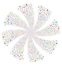 Doctor fireworks swirl flower vector