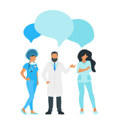 doctor speech bubble vector image