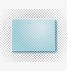 Empty glass board isolated on transparent vector