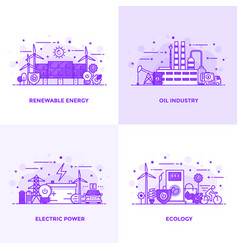Flat line purple designed concepts 10 vector