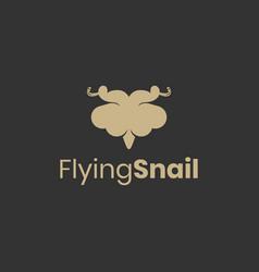 flying snail logo design inspiration vector image