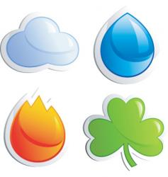 four elements vector image
