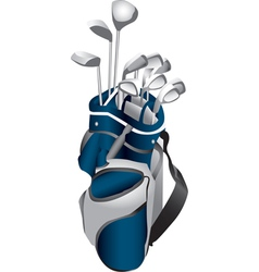 Golf Clubs in Bag vector