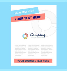 graph title page design for company profile vector image