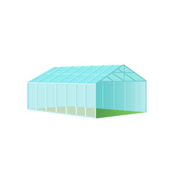 Greenhouse with polycarbonate glazing vector