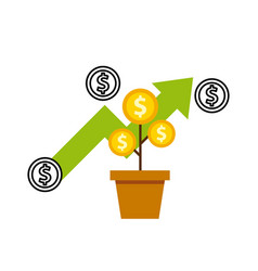 growth funds economy concept vector image