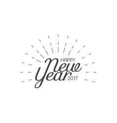 happy new year 2017 lettering greeting card vector image
