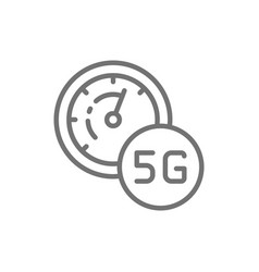 high speed 5g internet line icon vector image