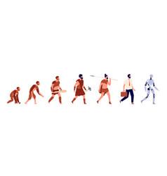 Human evolution animal man business clothes vector