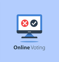 internet voting submit online government vector image