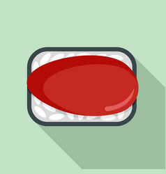 Japan sushi icon flat style vector