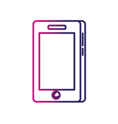 line smartphone technology communication to call vector image