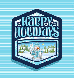 logo for happy holidays vector image