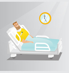 Man with a neck injury vector