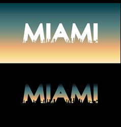 miami city label vector image