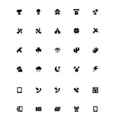 Mini icons 31 vector