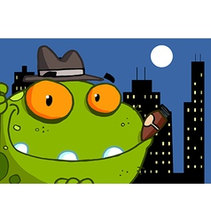 Mobster Frog Cartoon Character vector