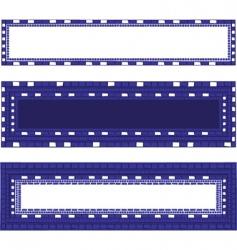 Mosaic border vector